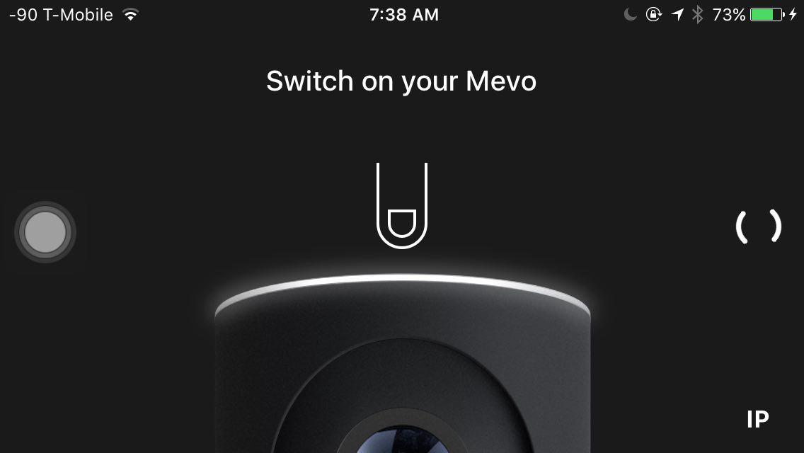 Mevo on iOS